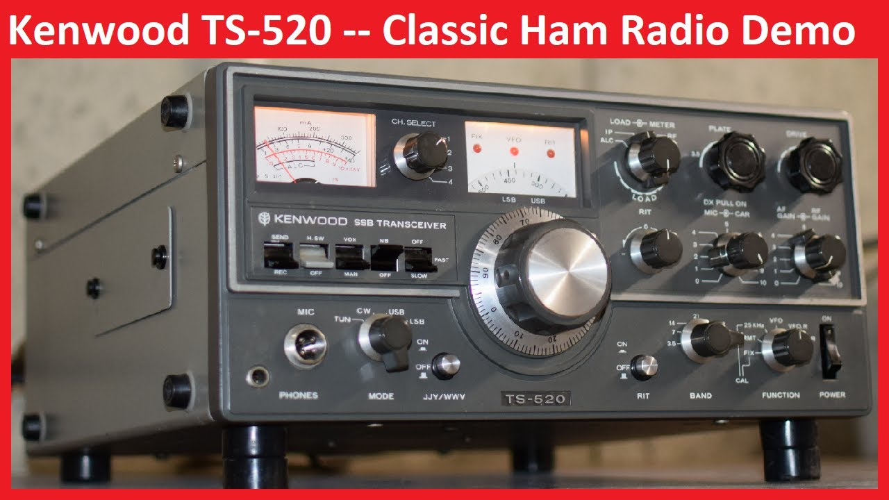 Kenwood TS-520 Ham Radio - Detailed Overview and Demo - Receive, Tune-up,  and Transmit