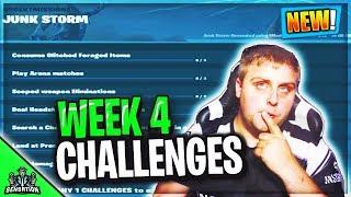 Fortnite Week 4 Challenges leaked JUNK STORM