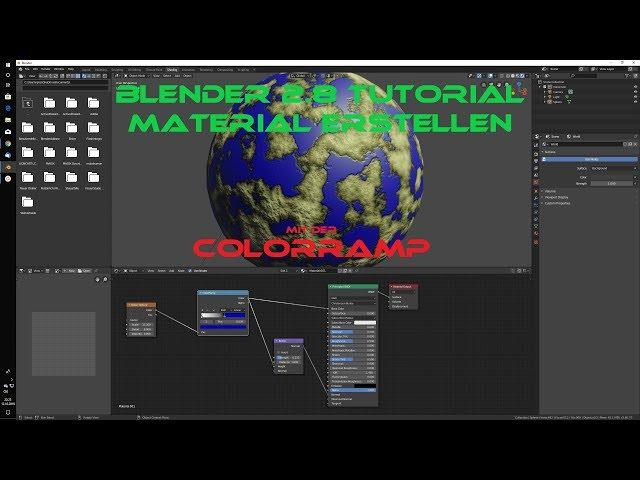 Blender 2 8 Tutorial Material erstellen mit der Colorramp Deutsch