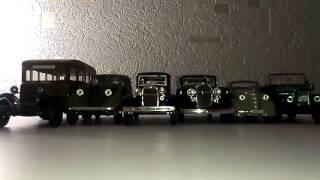 Шесть моделек от произвадителя ''НАШ АВТОПРОМ'' В масштабе 1:43