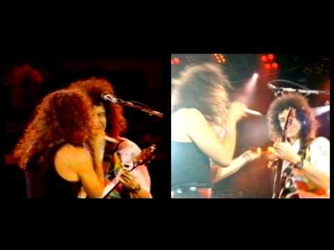 "Queen & Gary Cherone ""Hammer To Fall"" Split Screen"