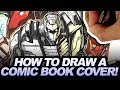 HOW TO DRAW A PROFESSIONAL COMIC COVER!  DRAWING ROM/MICRONAUTS #3