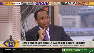 Stephen A. Smith on Max Kellerman: How concerned should LAKERS be about LEBRON? | First Take