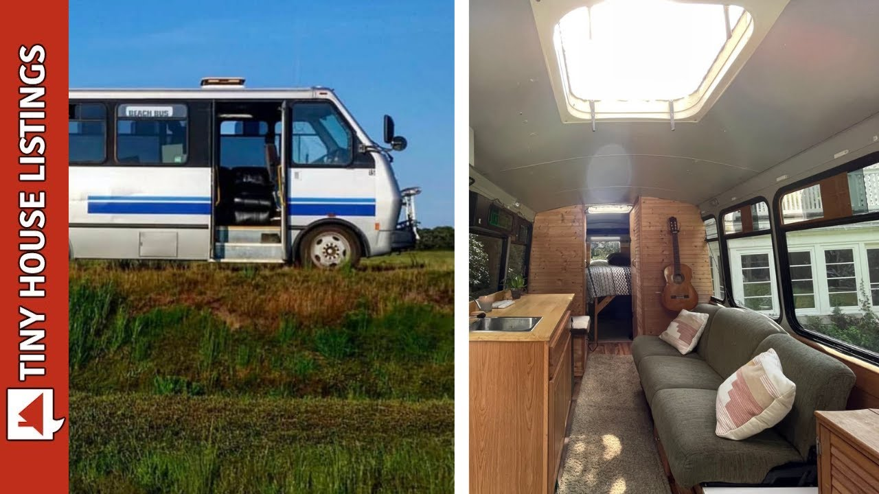 He Turned A Shuttle Bus Into A Traveling Tiny House   Full Tour