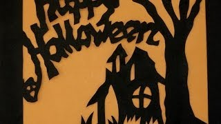 Halloween Crafts - Paper Cuts Instructions Video Step By Step halloween art