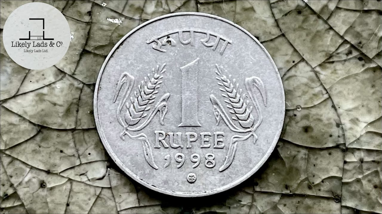 【India 1 Rupee】Restoration Old Rare Coins Time Lapse インドの1ルピー硬貨磨き 鏡面仕上げ 1 रुपया ASMR