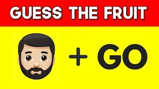 Can You Guess The FRUIT by emojis? | PART - 2 | Emoji Puzzles