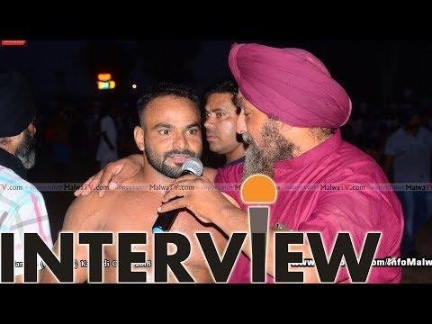 INTERVIEW WITH KABADDI PLAYER MANNA BY SUKHBIR CHOHAN WWW.MALWATV.COM