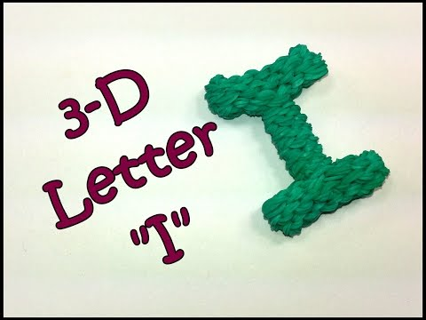 "3-D Letter ""I"" Tutorial by feelinspiffy (Rainbow Loom)"