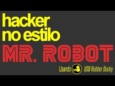 Hacker no estilo Mr  Robot com USB Rubber Ducky