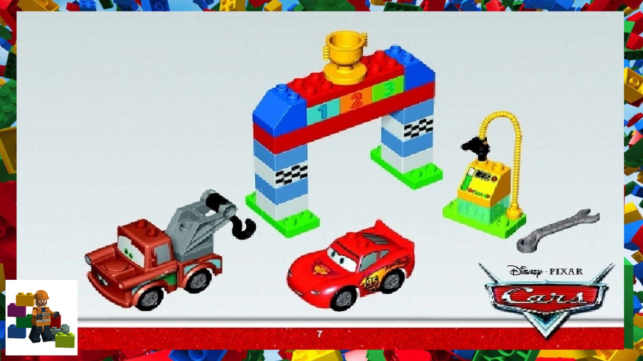Lego Instructions Duplo Cars 10600 Classic Race Youtube