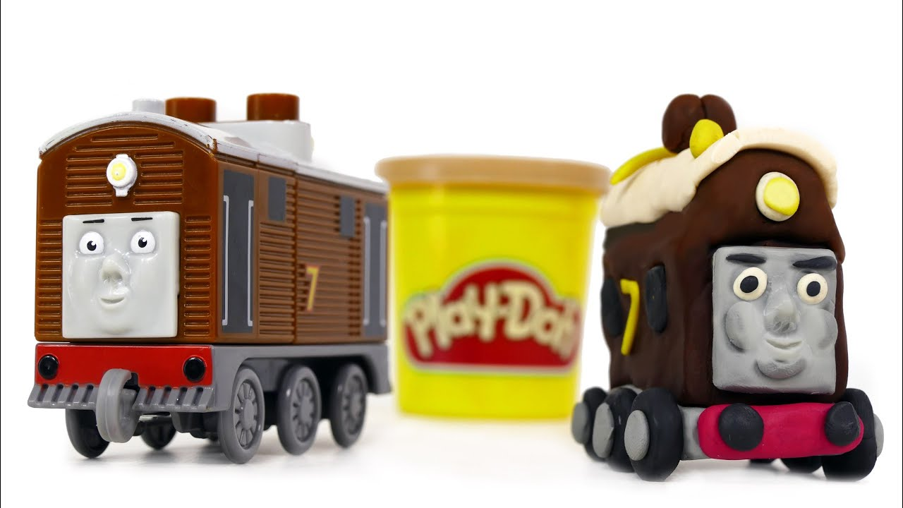 play doh train toby we make from playdough thomas and friends