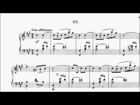 ABRSM Piano 2019-2020 Grade 6 B:6 B6 Rebikov Feuille d'automne Op.29 No.3 Sheet Music