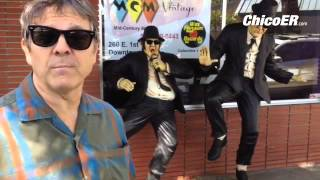 Dan Lewis, Owner of Wax Museum Records MCM Vintage in Chico CA talks about Blues Brothers statues We
