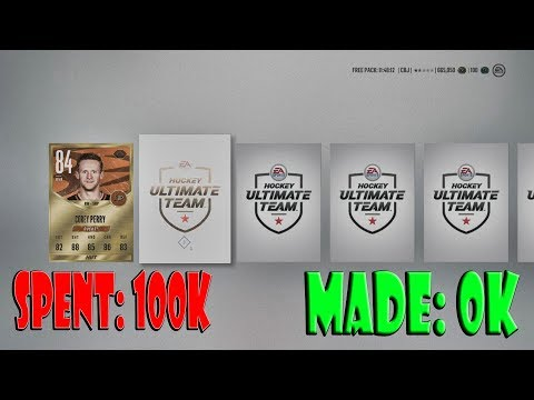 Can We Spend 100k COINS and MAke OVER 100K Buying Packs NHL 18