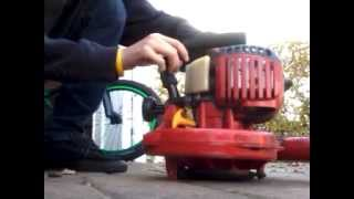 Winter cold start of lawn equipment