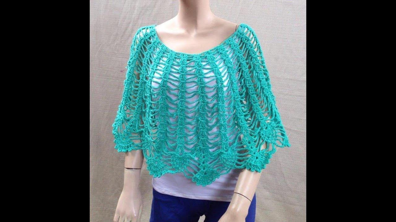 Espa 209 Ol Crochet F 225 Cil Capita Poncho Rifa Youtube