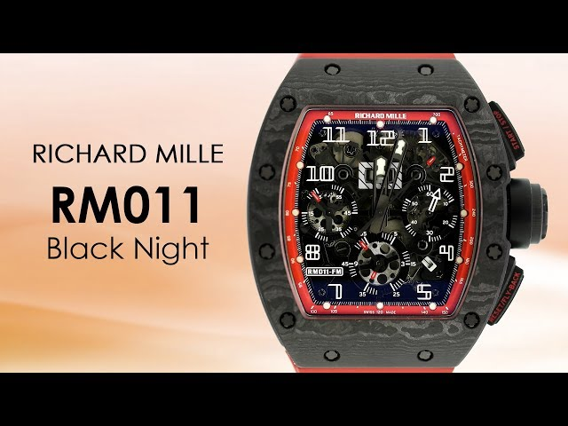 RICHARD MILLE RM 011 FELIPE MASSA BLACK NIGHT NTPT CARBON WATCH