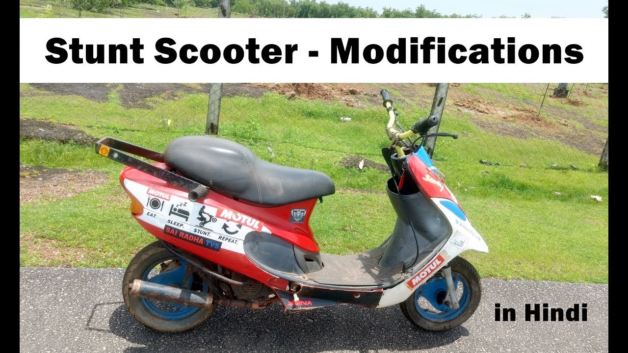 How To Modify Scooter Scooty Dio Jupiter Activa Suzuki Access For Stunts In Hindi