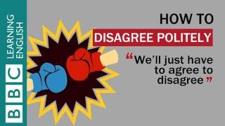 how to disagree politely in english