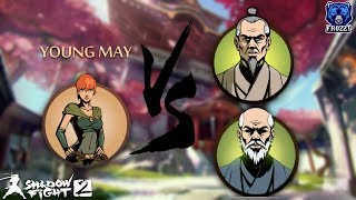 Shadow Fight 2 Young May Vs Young Sensei And Old Sensei