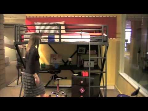 Powell Z Bedroom Full Size Study Loft Bunk Bed Youtube