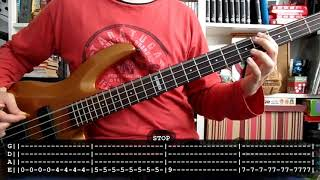 PIXIES - Where is my mind (bass cover w /Tabs)