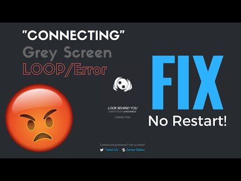 "How to FIX Discord GREY SCREEN/""Connecting"" LOOP! 2017"