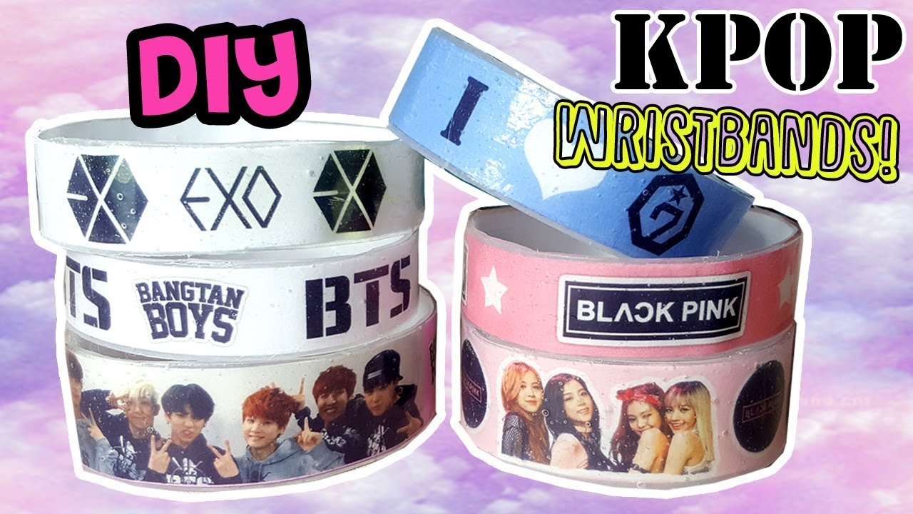 Diy K Pop Wristbands Exo Bts Blackpink Got7 Cara Membuat Gelang Lem Panas