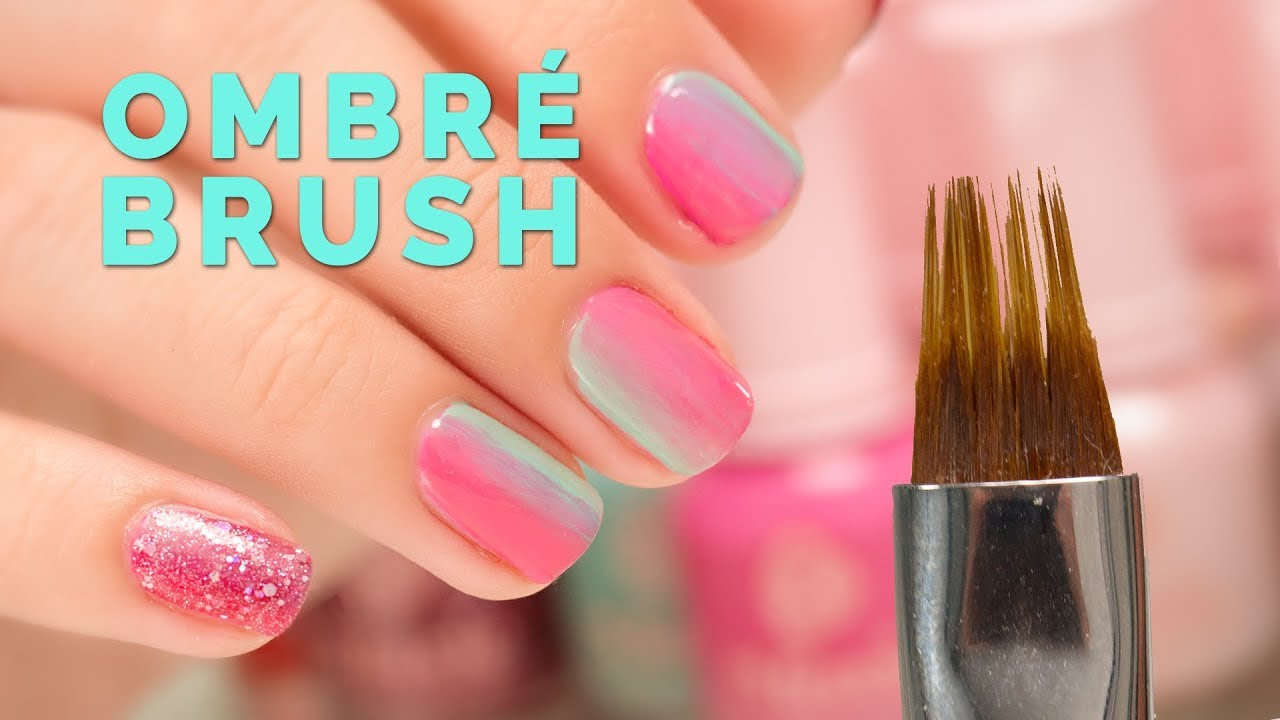 Nail Polish Ombre With Brush