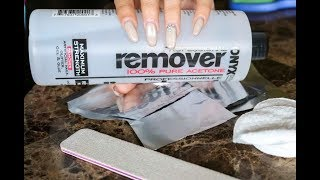How to remove acrylic nails at HOME! CHEAP AND EASY!