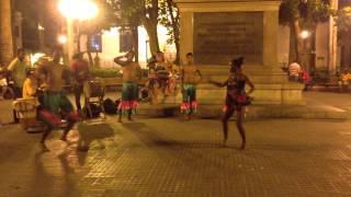 Caribbean Mapale dancing group in Cartagena de la Indias, Colombia