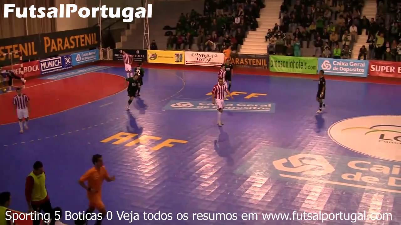Futsal :: 12J :: Sporting - 5 x Boticas - 0 de 2010/2011