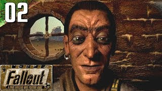 Fallout 1: 100% (Hard) Walkthrough Part 2 - Shady Sands (No Commentary)