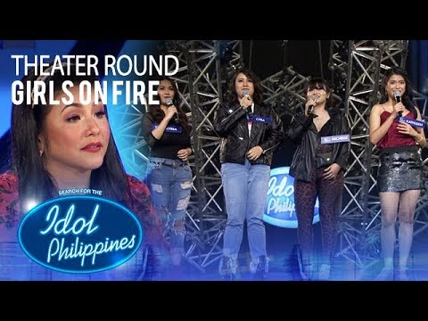 """Girls On Fire sings """"Fighter"""" at Theater Round 