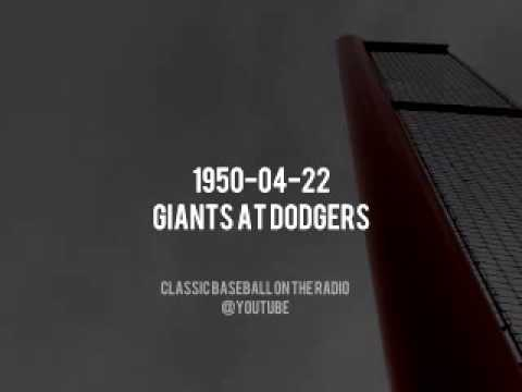1950 04 22 Giants at Dodgers Complete Baseball Radio Old Time Broadcast