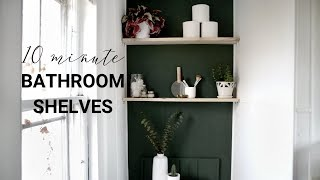 10 Minute Bathroom Shelves