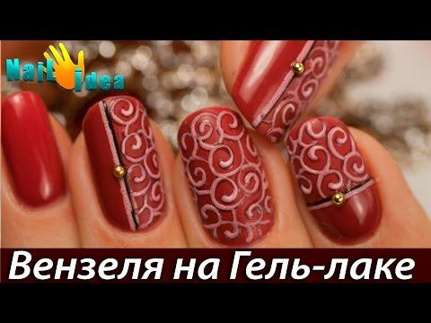 Цветы на ногтях -