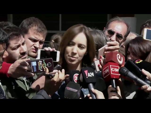 En vivo: vota María Eugenia Vidal