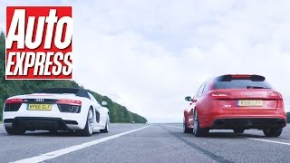 Audi R8 Spyder vs RS6 Avant drag race: most and least practical Audis fight it out