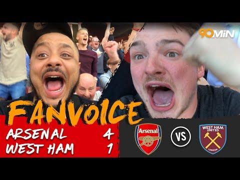 Lacazette scores twice as Arsenal thrash West Ham 4-1   Arsenal 4-1 West Ham   90min FanVoice