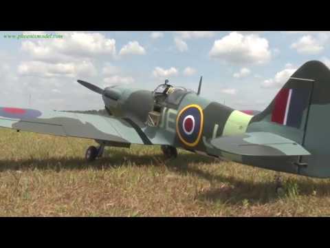 Phoenix Model 1:4 3/4 Spitfire 50-61cc Gas/EP ARF 95