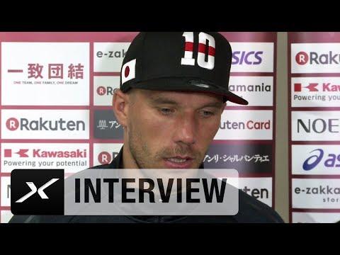 Das sagt Lukas Podolski über sein Traum-Debüt | Vissel Kobe - Omiya Ardija  3:1 | J-League