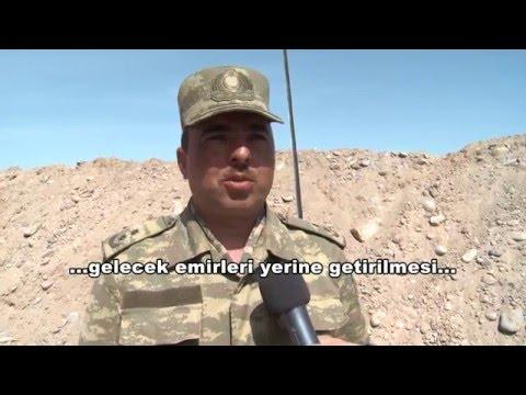 Azerbaijani forces in the Karabakh frontline