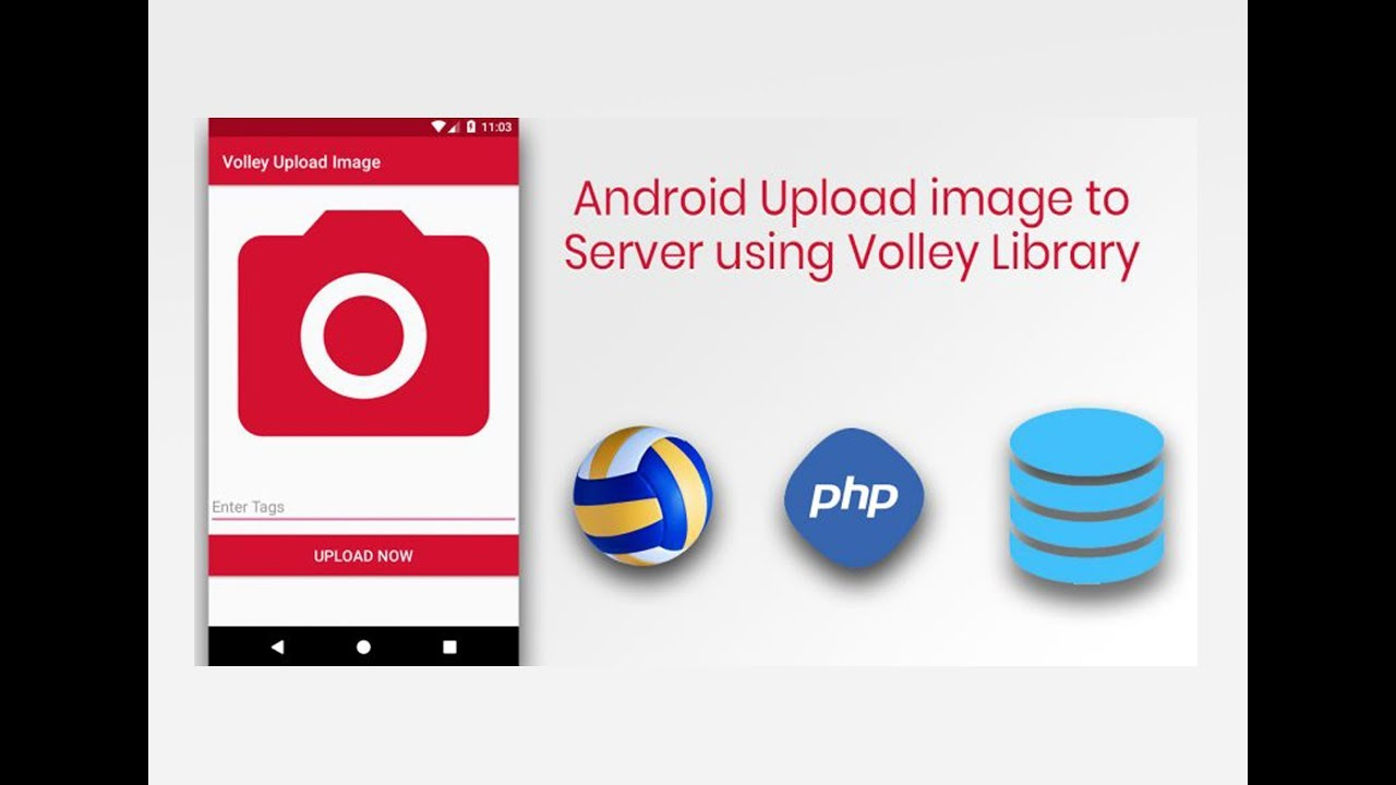 Send images to remote server in android using Volley library