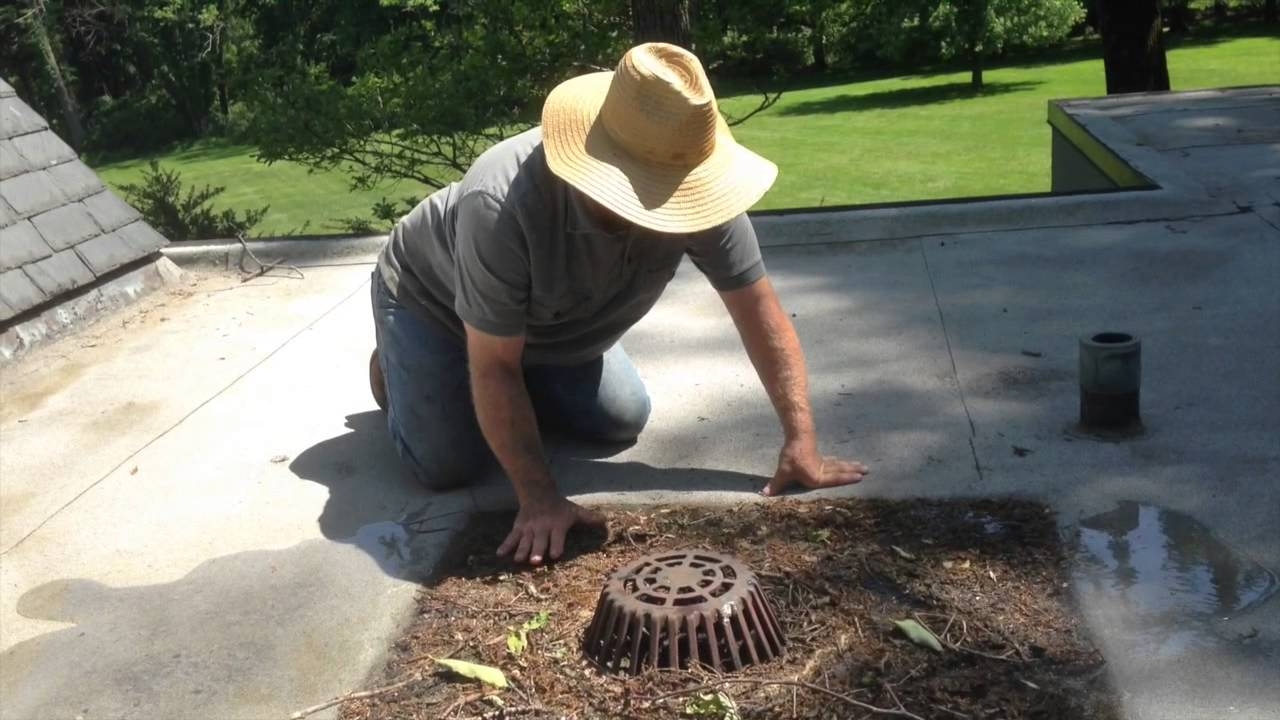 The Best Flat Roof Drain Youtube