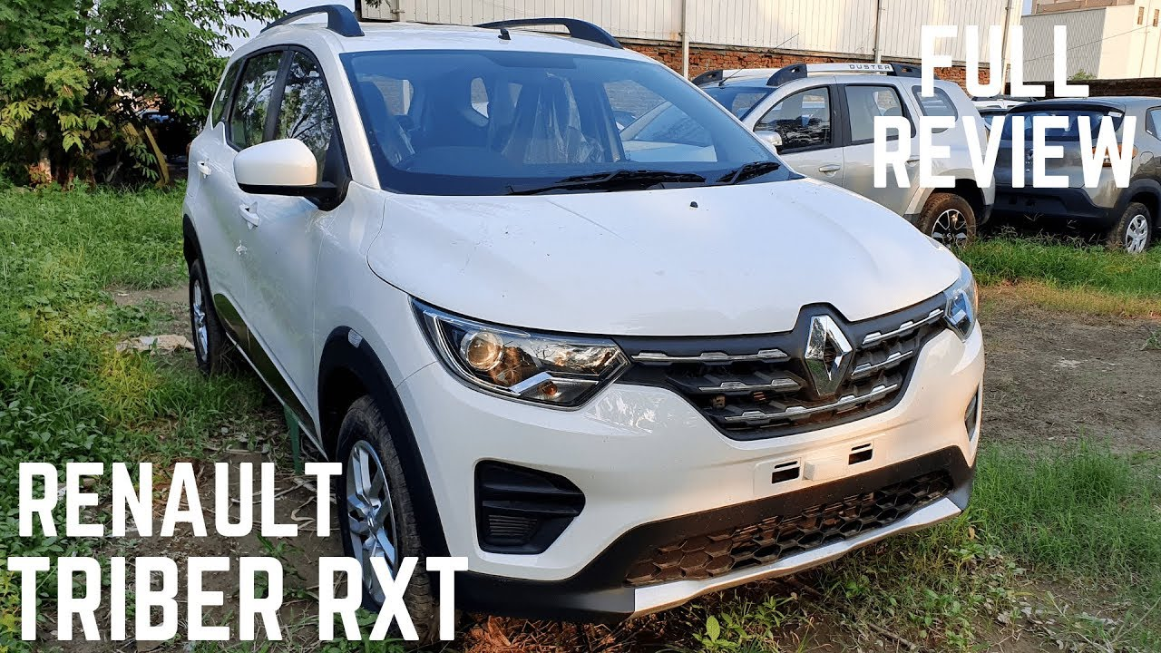 Renault Triber Rxt White Colour Full Detailed Review Interiors Exterior Features Price Triber Youtube
