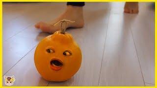 오렌지 살아있다면!? 주방놀이 장난감 놀이 Orange Pretend Play for kids & children