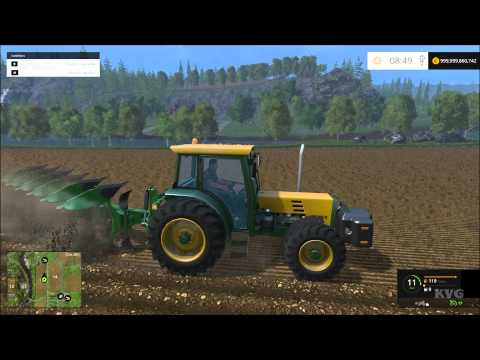 Farming Simulator 15 - Buhrer 6135A Tractor Gameplay (PC HD) [1080p]