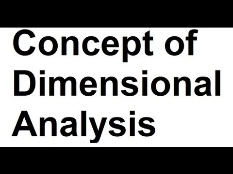 Concept of Dimensional Analysis Physics